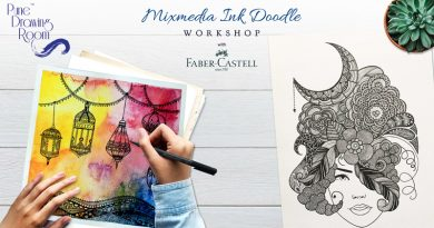 Mixmedia Ink Doodle Workshop by Pune Drawing Room